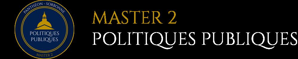 Master 2 Politiques Publiques